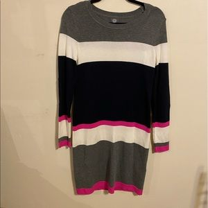EUC Vince Camuto Striped Sweater Dress